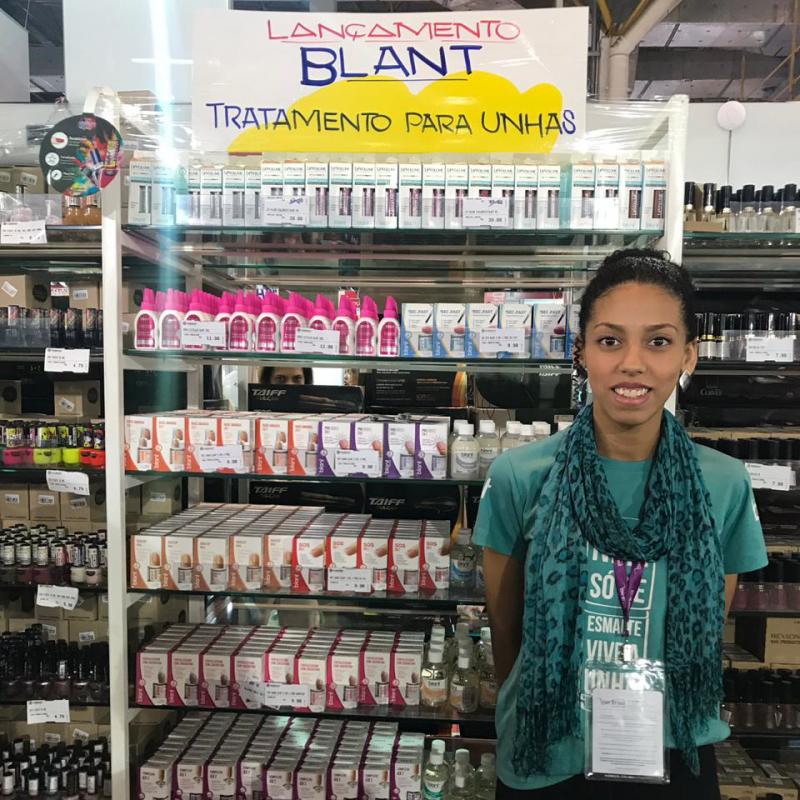 Exposição dos produtos Blant na Hair Brasil 2019